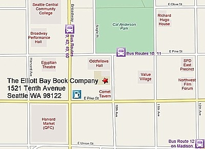 Map to Elliott Bay Book Company